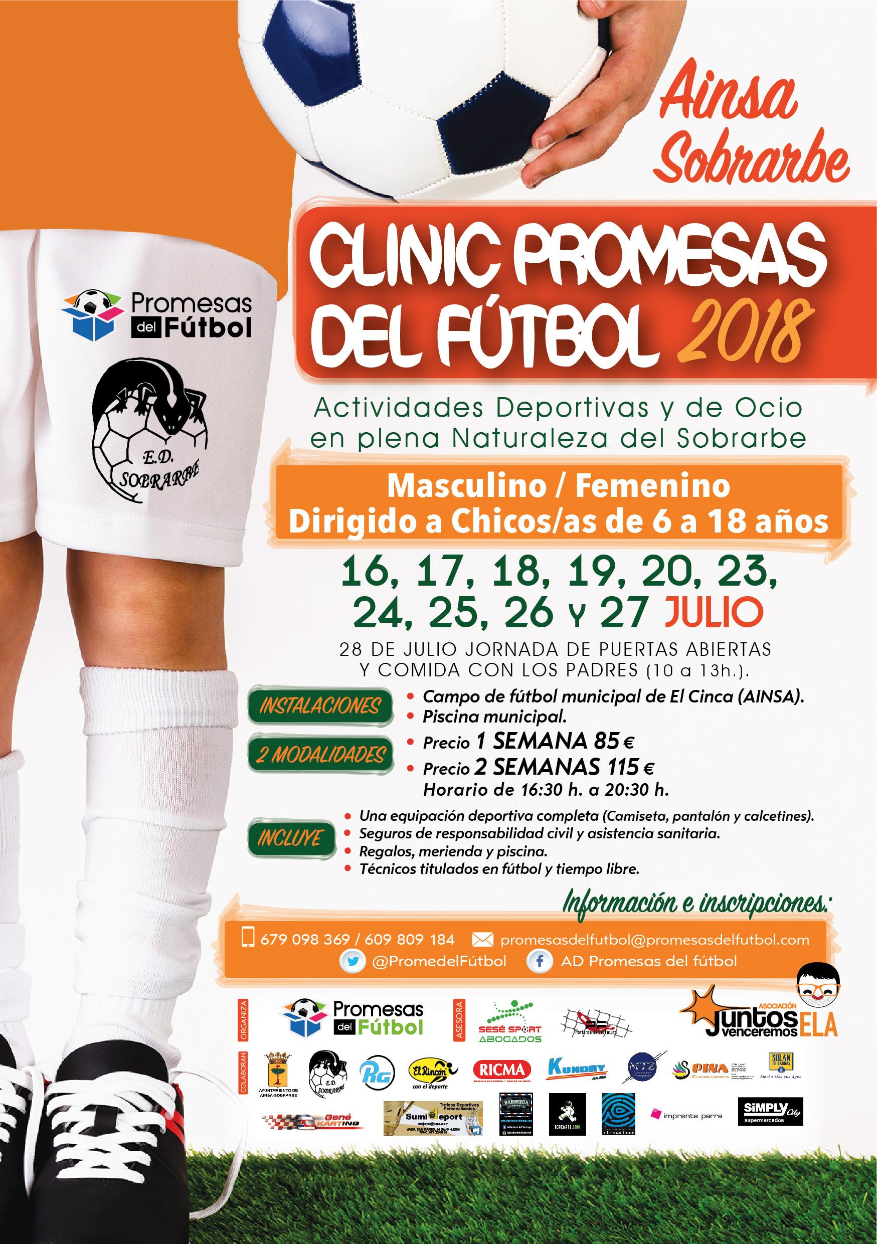 Clinic Promesas del Fútbol Ainsa-Sobrarbe Julio 2018